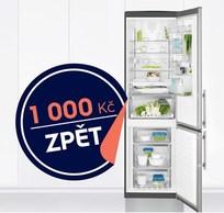 1000 Kč zpět k chladničkám Electrolux