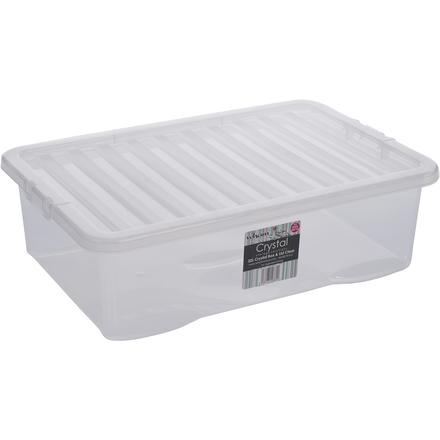 Box s víkem 32l Wham 10860 BÍLÁ
