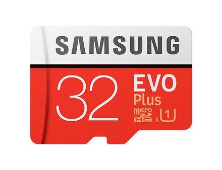 Paměťová karta Samsung 32GB microSDHC EVO Plus + SDadaptér 95Mb/s