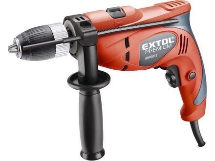 Elektrická příklepová vrtačka Extol Premium (8890015) vrtačka s příklepem, Click-lock, 500W