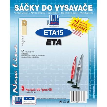 Sáčky do vysavače Jolly ETA 15 (5+1ks) do vysav. ETA