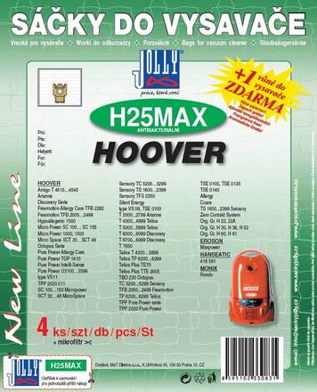 Sáčky do vysavače Jolly H 25 MAX sáčky Hoover