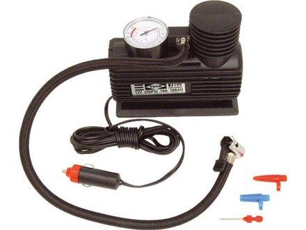 Kompresor Extol Craft (252) kompresor mini 12V, 250PSI/1,7MPa, manometr, délka napájecího kabelu 3m, připojení do autozásuvky 12V, vzduchová hadička 0,5m