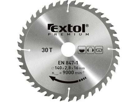 Kotouč pilový Extol Premium (8803221) kotouč pilový s SK plátky, 184x2,2x30mm, 40T
