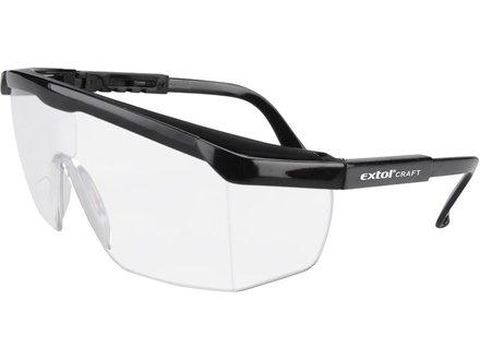 Brýle ochranné Extol Craft (97301) brýle ochranné čiré, univerzální velikost, zorník třídy F s ochranou proti oděru