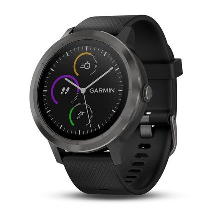 Chytré hodinky Garmin vivoActive3 Optic Grey PVD, black band