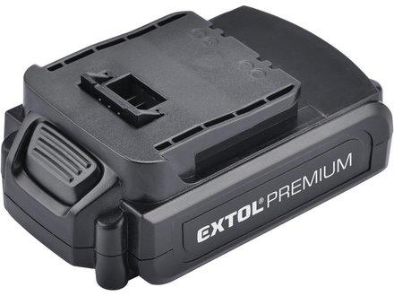Náhradní baterie Extol Premium (8891114B) baterie akumulátorová 18V, Li-ion, 1500mAh