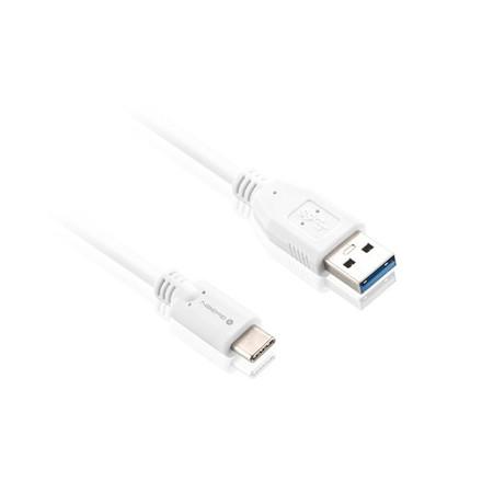 USB kabel GoGEN USB / USB-C, 2m, bílý