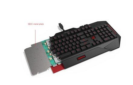 Počítačová klávesnice Asus Hard bundle CERBERUS COMBO keyboard CZ layout + Cerberus headset V2 RED