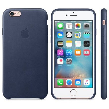 Kryt na mobil Apple Leather Case pro iPhone 6S - Midnight Blue