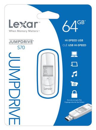 USB flash disk Lexar USB 64GB JumpDrive S70