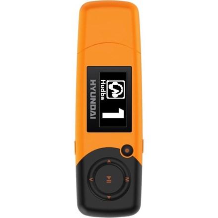 MP3 přehrávač Hyundai MP 366 FM, 8GB, oranžová barva