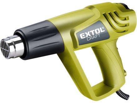 Pistole horkovzdušná Extol Craft (411023) pistole horkovzdušná s příslušenstvím, 2000/1000W, 550/350°C