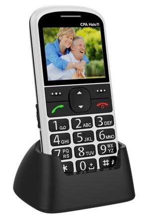 Mobilní telefon pro seniory CPA Halo 11 bílý