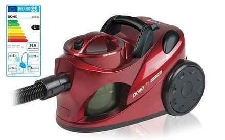 Podlahový bezsáčkový vysavač Domo DO 7279S červená metalíza