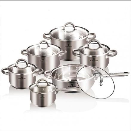 Sada nádobí nerez Blaumann BL 3152 Sada nádobí nerez 12 ks satinová