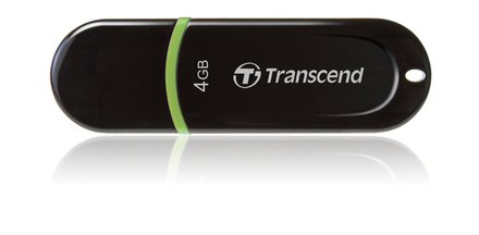 USB flash disk Transcend JetFlash 300 4GB USB 2.0 - černý/zelený