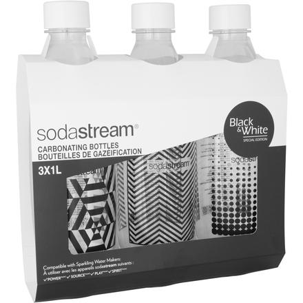 Náhradní láhve Sodastream Lahev TriPack 1l Fuse Black&White
