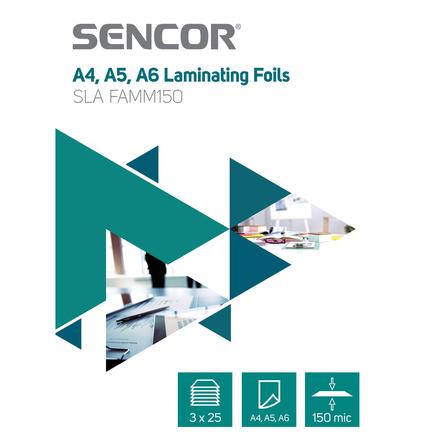 Laminovací fólie Sencor SLA FAMM150 FólieA456 150mic 3x25