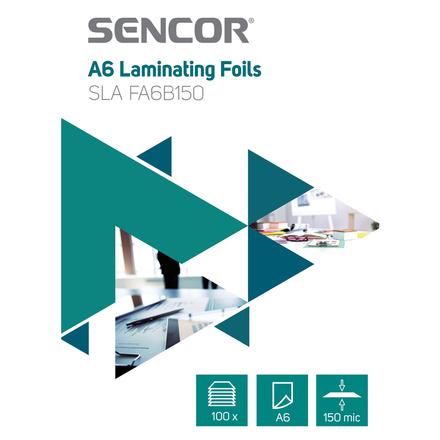 Laminovací fólie Sencor SLA FA6B150 Fólie A6 150mic 100ks